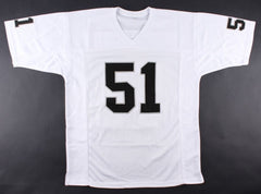 Bruce Irvin Signed Raiders Jersey (JSA) Linebacker / Super Bowl XLVIII champion