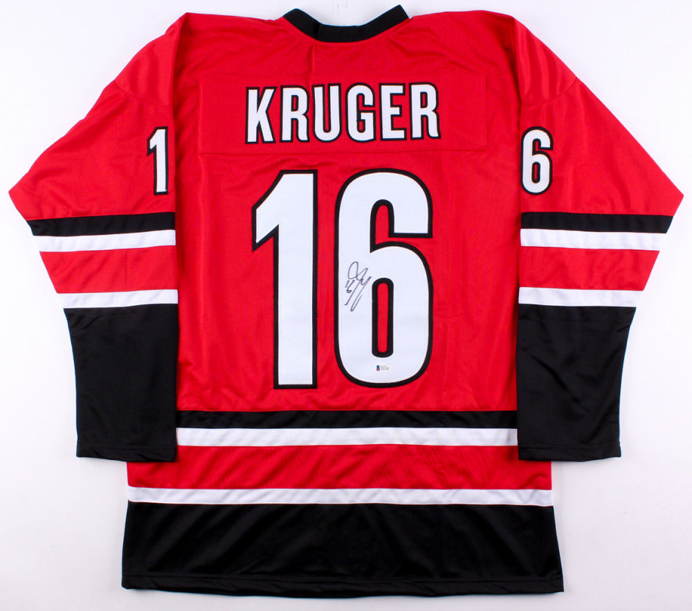 hot sale online ad04d cfc59 Marcus Kruger Signed Carolina Hurricanes Jersey (Beckett) 2x Stanley Cup  Champ