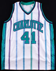 Glen Rice Signed Charlotte Hornets Jersey (Fiterman Sports Hologram) 3x All Star