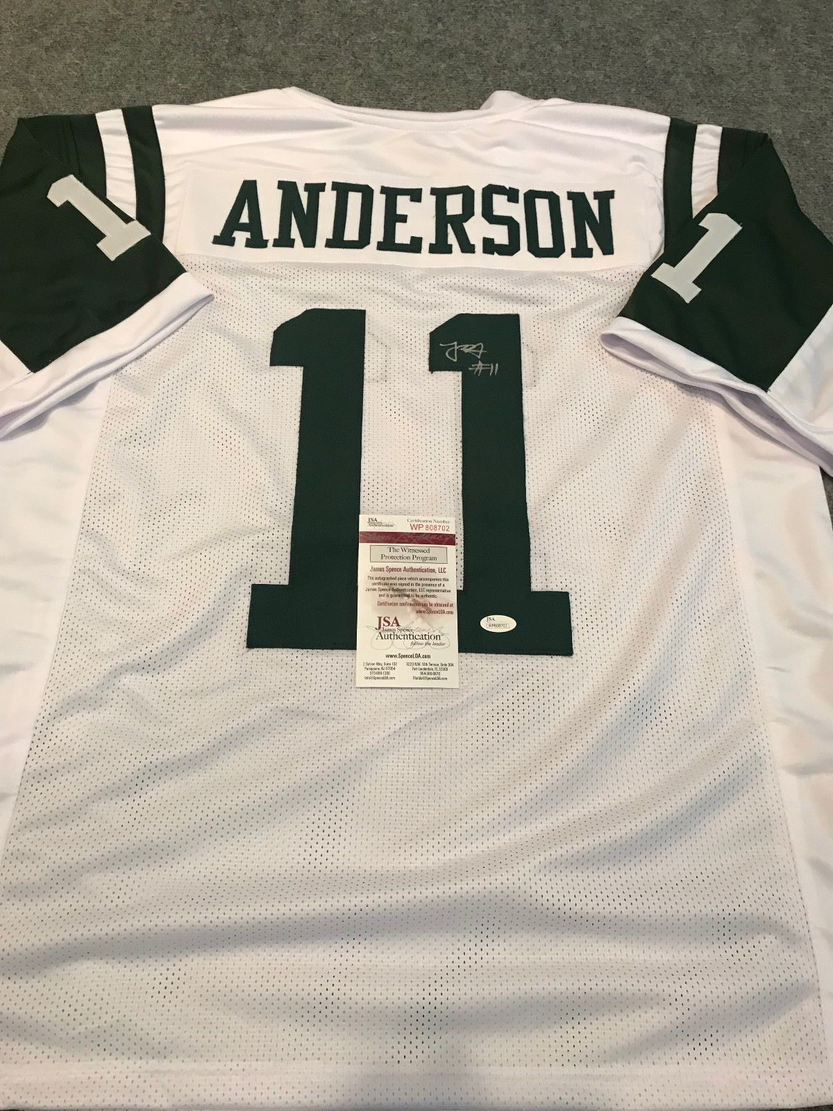 robby anderson white jersey