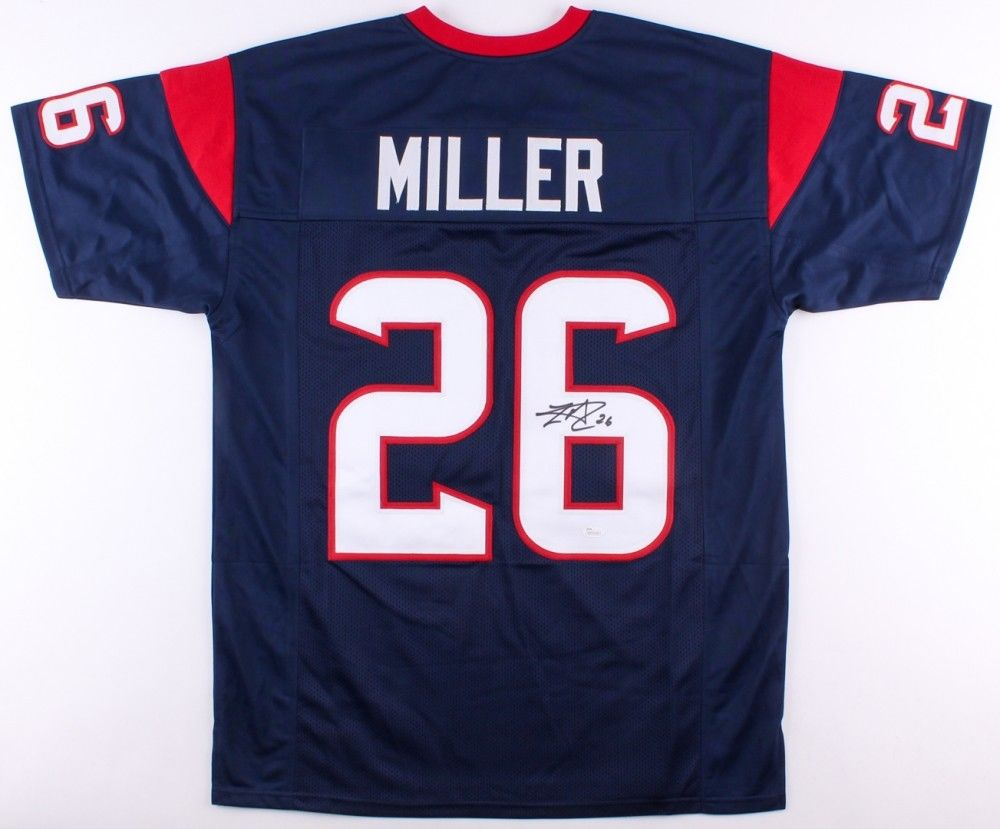 Lamar Miller Signed Texans Jersey (JSA) Second-team All-ACC (2011) U of Miami