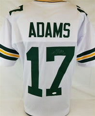 Davante Adams Signed Green Bay Packers White Jersey (JSA) All Pro Wide Receiver