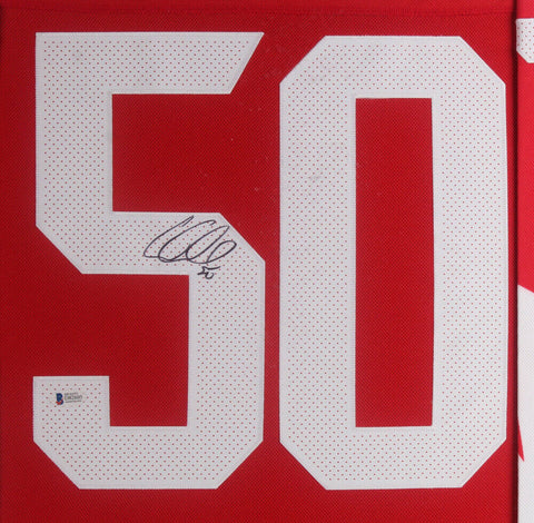 Corey Crawford Signed Team Canada 35x43 Framed Jersey Display Becket COA Chicago
