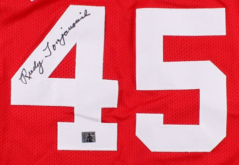 Rudy Tomjanovich Signed Rockets Career Highlight Stat Jersey (Rudy T. Hologram)