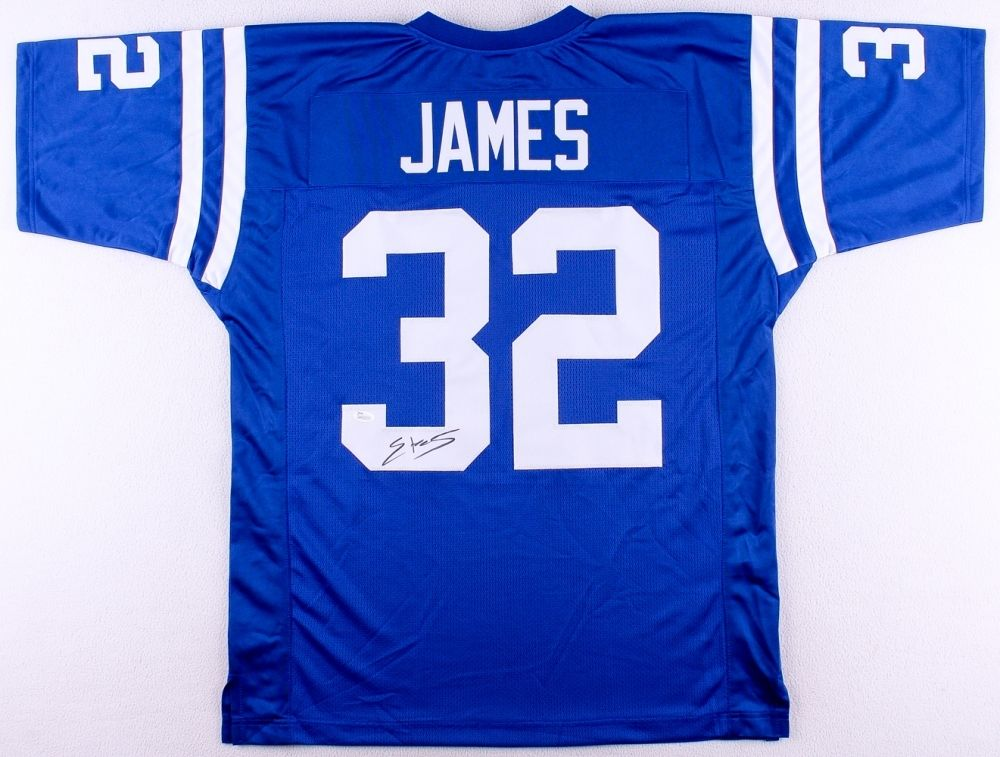 Edgerrin James Signed Colts Jersey (JSA COA) 2017 Hall of Fame Candidate