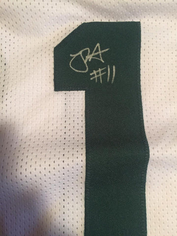 Robby Anderson Signed Jets White Jersey (JSA COA)2017 New York #1 Wide Receiver