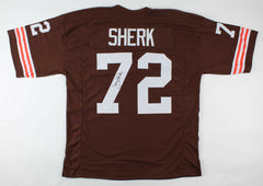 Jerry Sherk Signed Cleveland Browns Jersey (JSA COA) 4×Pro Bowl Defensve Tackle