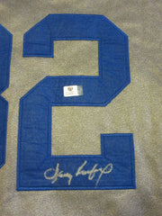 SANDY KOUFAX  signed LOS ANGELES DODGERS gray  Jersey ( GAI COA )