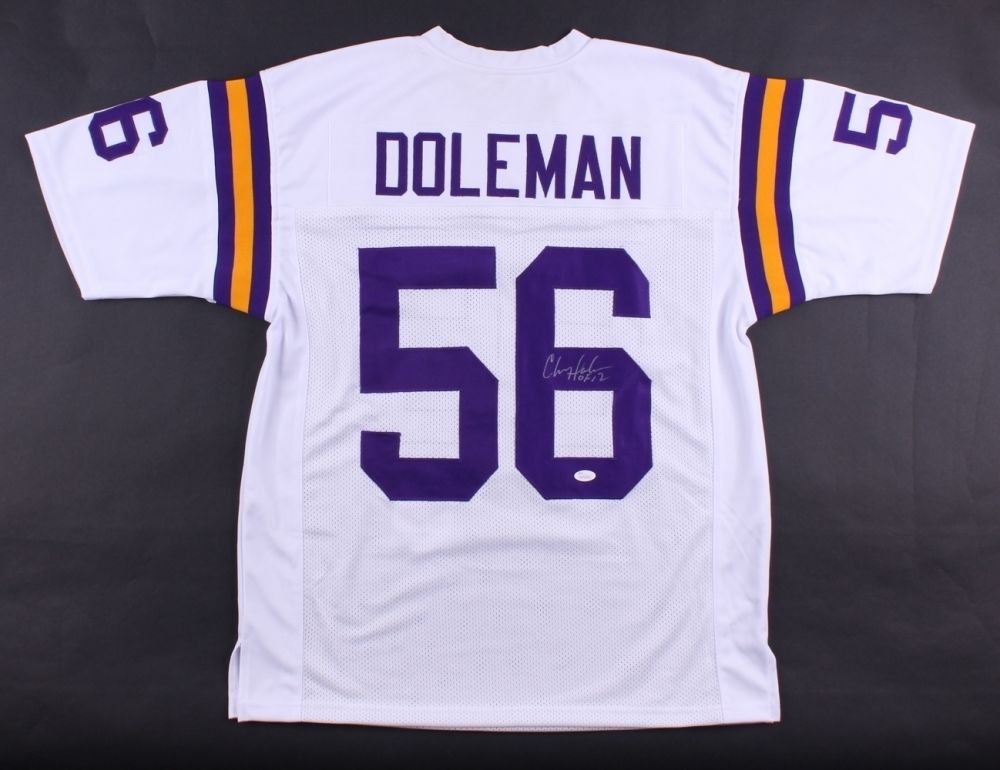 check out db72b 59799 Chris Doleman Signed Vikings Jersey Inscribed