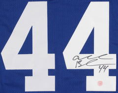 Ahmad Bradshaw Signed New York Giants Blue Jersey (Gridiron Legends COA)