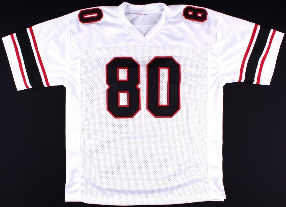 Andre Rison Signed Falcons White Jersey (JSA COA) 5x Pro Bowl Wide Receiver