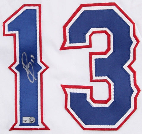 Jurickson Profar Signed Texas Rangers Authentic Majestic Jersey (MLB Hologram)