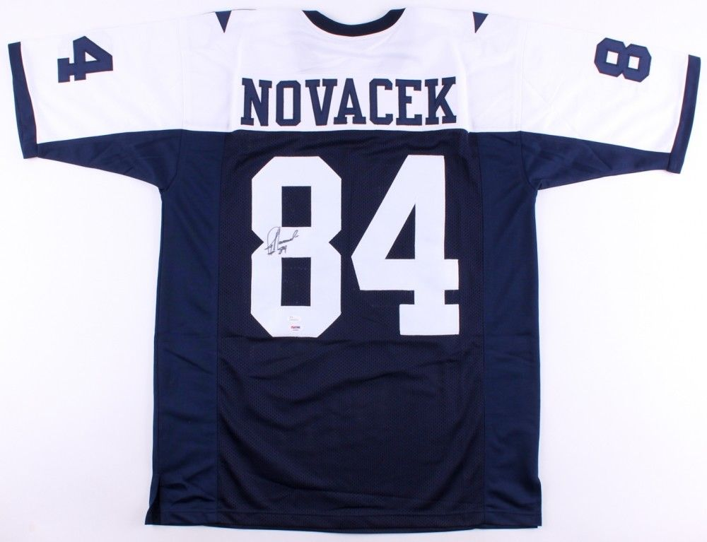 huge discount 24b0f b7167 Jay Novacek Signed Dallas Cowboys Jersey (JSA COA) 3 Time Super Bowl  Champion