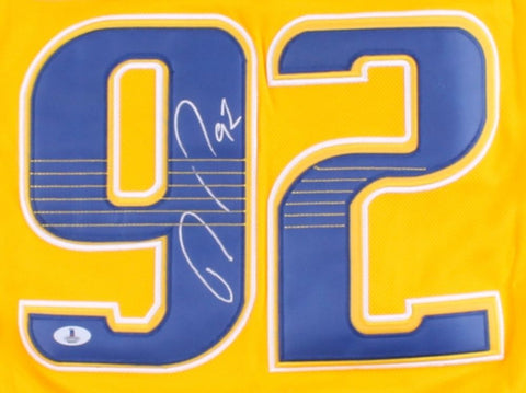 Ryan Johansen Signed Predators Jersey (Beckett COA) Nashville Center