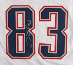 Deion Branch Signed Patriots Jersey (Patriots Alumni COA) Super Bowl MVP (XXXIX)