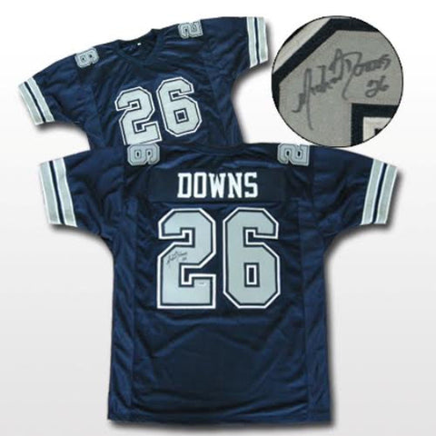 Michael Downs Signed Dallas Cowboys Blue Jersey (Gridiron Legends COA)