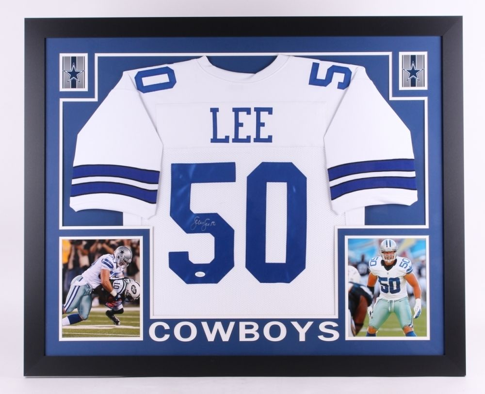 best cheap e5543 5d6b1 Sean Lee Signed Cowboys 35x 43 Custom Framed Jersey (JSA) Pro Bowl  Linebacker