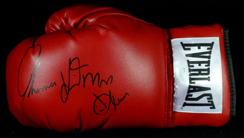 "Thomas Hearns Signed Everlast Boxing Glove Inscribed ""Hitman"" (JSA COA)"