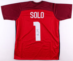 Hope Solo Signed Red Team USA Soccer Jersey (JSA COA)