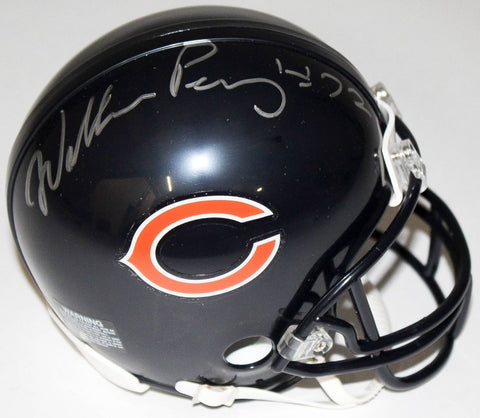 "William Perry Signed Bears Mini-Helmet (Schwartz COA) ""The FRIDGE"" 1985 Bears"