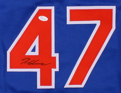 Tom Glavine Signed Mets Jersey (JSA COA) Won his 300th Game as a Met !