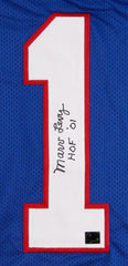 "Marv Levy Signed Blue Buffalo Bills Jersey Inscribed ""HOF '01"" (TPL Hologram)"
