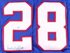 Tyrone Wheatley Signed  New York Giants Jersey (Autograph Reference COA)