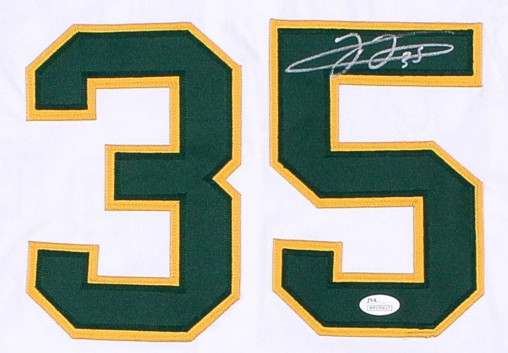 Frank Thomas Signed Athletics Jersey JSA COA 500 Home Run Club 2X AL MVP 93 & 94