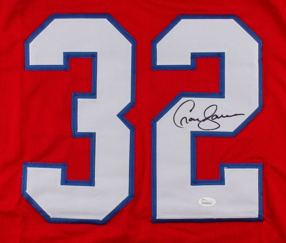 Craig James Signed New England Patriots Jersey (JSA) Pro Bowl (1986) S.B.XX