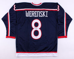Zach Werenski Signed Blue Jackets Jersey (Beckett) 8th Overall Pick 2015 Draft