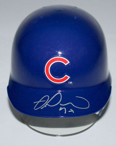 Miguel Montero Signed Cubs Mini Batting Helmet (Schwartz COA)