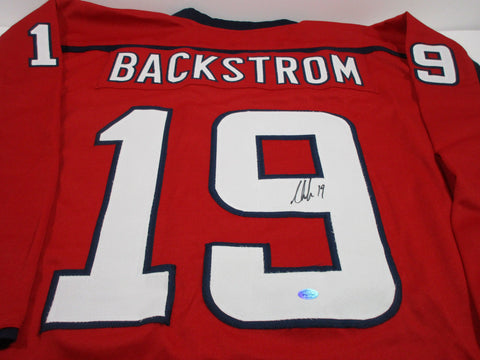 Nicklas Backstrom Signed Washington Capitals Jersey /4th Overall Pick 2004 Draft