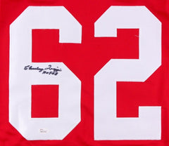 "Charley Trippi Signed Cardinals Jersey Inscribed ""HOF 68""(JSA) NFL Champion 1947"