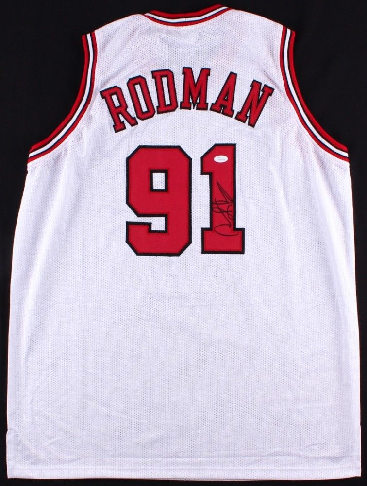buy popular 57072 f0c0d Dennis Rodman Signed Chicago Bulls Jersey / 5x NBA Champion / Mr Rebound /  JSA