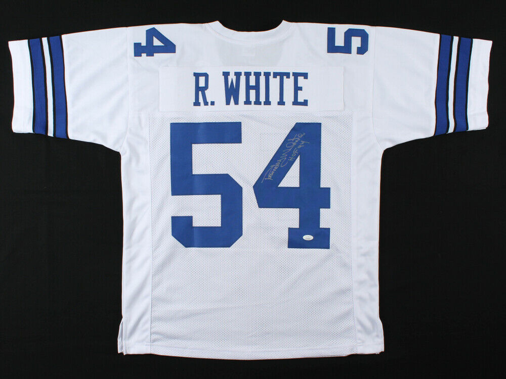 Randy White Signed Dallas Cowboys White Jersey Inscribed