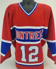 Yvan Cournoyer Signed Montreal Canadiens Jersey (JSA COA)Conn Smythe Trophy 1973