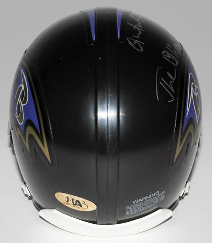 "Quinton Aaron Signed Ravens Mini-Helmet Inscribed ""The Blind Side"" MAB Hologram"