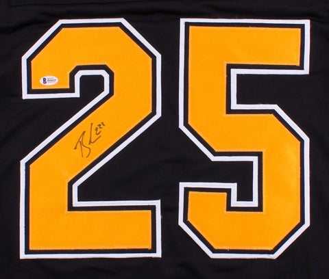 Brandon Carlo Signed Bruins Jersey (Beckett) 37th Overall pick 2015 NHL Draft