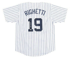 Dave Righetti New York Yankees Signed Pistirred Jersey (JSA COA) 2×All-Star P