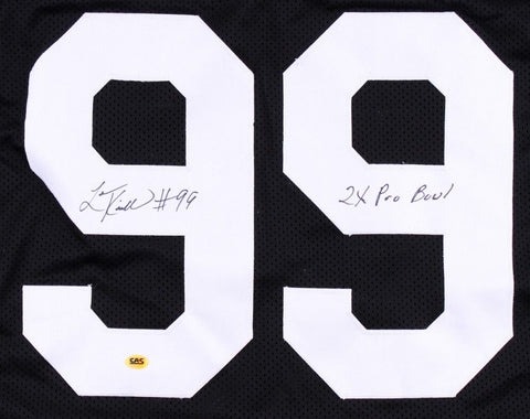 "Levon Kirkland Signed Steelers Jersey inscribed ""2x Pro Bowl"" (CAS COA)"