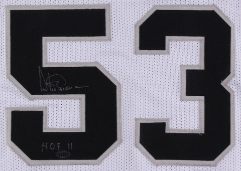 Artis Gilmore Signed White San Antonio Spurs Jersey (Leaf COA) Inscribed HOF 11