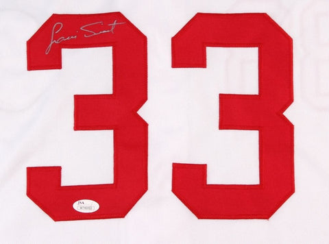 Luis Tiant Signed Indians Jersey (JSA COA 3× All-Star (1968, 1974, 1976)