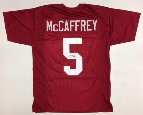 Christian McCaffrey Signed Stanford Cardinal Jersey (JSA COA) Carolina Panthers