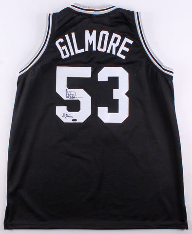 Artis Gilmore Signed San Antonio Spurs Jersey With Inscription (Leaf COA)