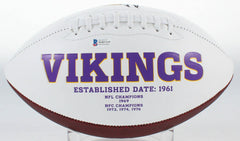 Daunte Culpepper Signed Minnesota Vikings Logo Football (Beckett Hologram) UCF