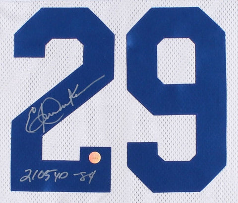 "Eric Dickerson Signed Rams Jersey Inscribed ""2105 YD '84"" Gridiron Legends Holo"