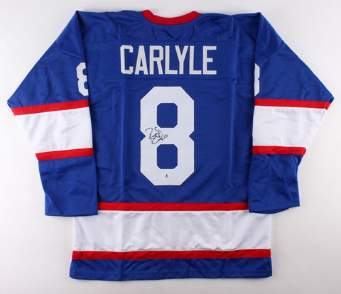 Randy Carlyle Signed Winnipeg Jets Jersey (Beckett) Playing career 1976–1993
