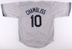 "Chris Chambliss Signed Gray N.Y. Yankees Jersey Inscribed ""77-78 WSC"" (Leaf COA)"