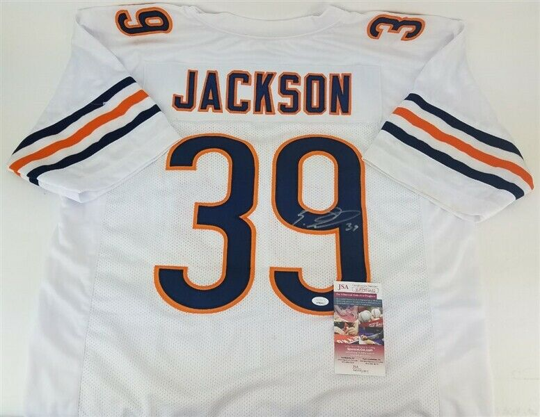 Eddie Jackson Signed Bears Jersey (JSA COA) Chicago 2017 4th Rd Pick / Bama D B