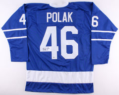 Roman Polak Signed Maple Leafs Jersey (Beckett COA) Toronto Defenseman